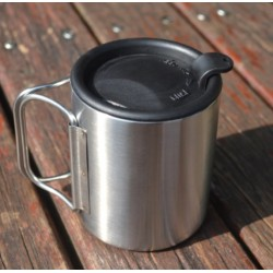 stainless steel camping cup...